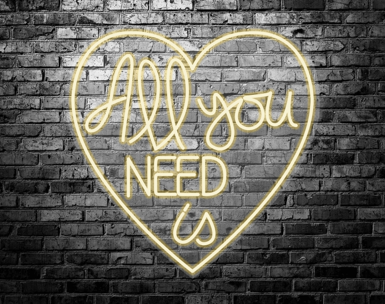 imagen-Neón Led All you need is love