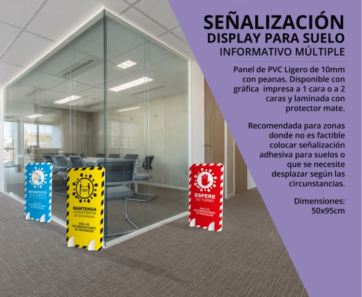 Display para suelo informativo simple